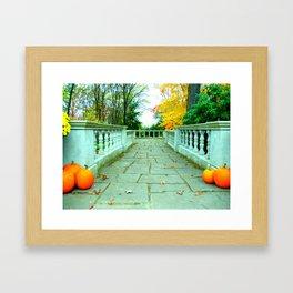 Pumpkin Trail Framed Art Print