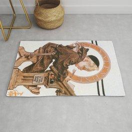 Joseph Christian Leyendecker - St. Valentine's Day - Digital Remastered Edition Rug