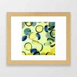 Yellow buttons Framed Art Print