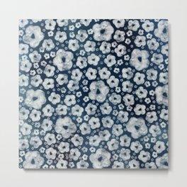 Mood indigo ditsy floral Metal Print