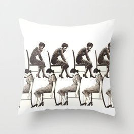 10 chairs Throw Pillow