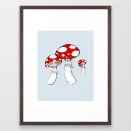 Toadstool Trio Framed Art Print