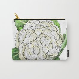 Cauliflower from the Eat Your Veggies Series Carry-All Pouch