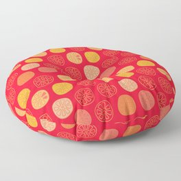 orange slices Floor Pillow