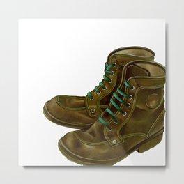 Trekking shoes Metal Print