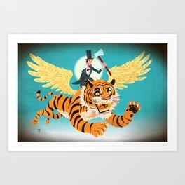 Abe Lincoln Flies a Tiger Art Print