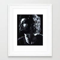 zayn Framed Art Prints featuring Zayn by Luna Perri