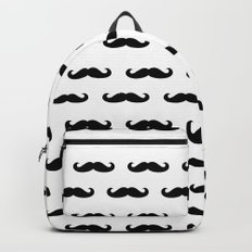Simple Mustache Backpack