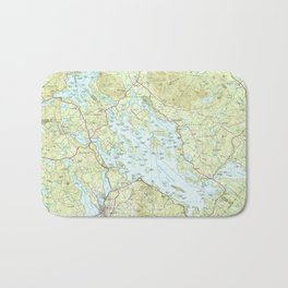 Lake Winnipesaukee Map (1986) Bath Mat