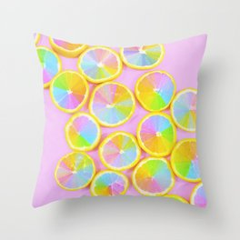 Unicorn Fruit Throw Pillow