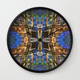 MADRONA TREE MANDALA Wall Clock