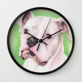 The White Boxer Wall Clock