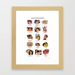 A Brief Guide to 20th Century Latina Artists Framed Art Print
