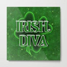 Irish Diva - St Patrick's Day Clover Metal Print