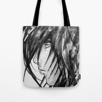 no face Tote Bags featuring Face by rchaem
