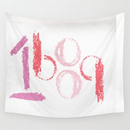 1689 (pink retro) Wall Tapestry