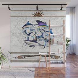 Pacific Billfish Slam Marlins,Sailfish,Swordfish,Spearfish Wall Mural