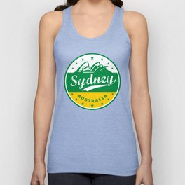 Sydney City, Australia, circle, green yellow Unisex Tank Top