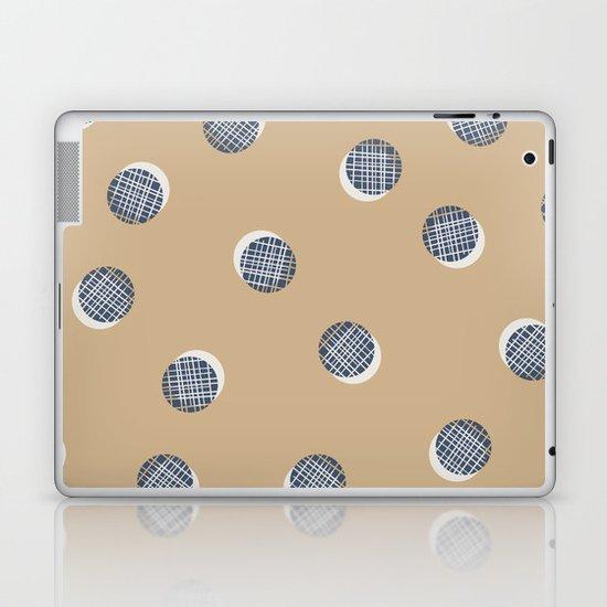 Mixed Dots - in Cocoa Laptop & iPad Skin