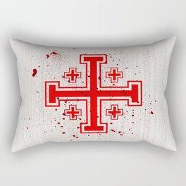 The Crusades Bloody Knight Templar Rectangular Pillow
