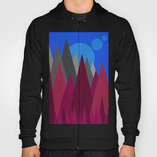 Landscape Abstract colour change Hoody