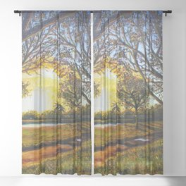 Sunset Stroll Sheer Curtain
