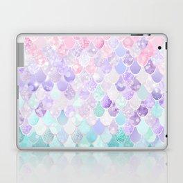Cute Mermaid Pattern, Light Pink, Purple, Teal Laptop & iPad Skin