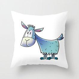 Goat Happy Throw Pillow