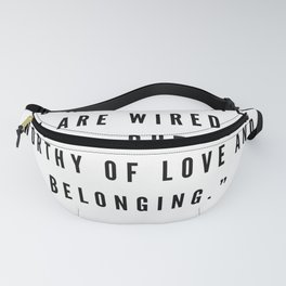 8    | Brené  Brown Quotes | 190524 | White Design Fanny Pack