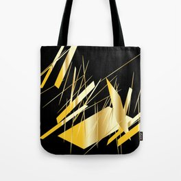golden treasure abstract geometrical art Tote Bag