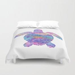 Watercolor Sea Turtle Duvet Cover