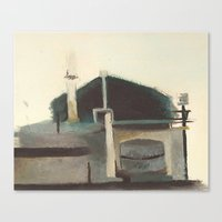 industrial Canvas Prints featuring Industrial. by Kayt