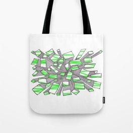 Green Fragmentation Tote Bag