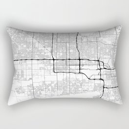 Minimal City Maps - Map Of Phoenix, Arizona, United States Rectangular Pillow
