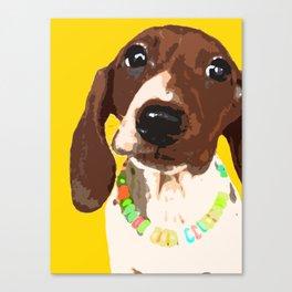"""""""Wild and Spree"""" ~ Dachshund, Weiner Dog, Doxie, everywhere! Canvas Print"""