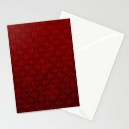 D20 Abyssal Crit Pattern Premium Stationery Cards
