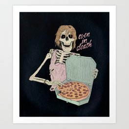 Even In Death Art Print