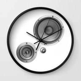 Subwoofer Speaker on white Wall Clock