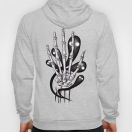Skeleton hand with ghosts Hoody
