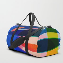 Shapes and Layers no.14 - leaves grid flames sun Duffle Bag