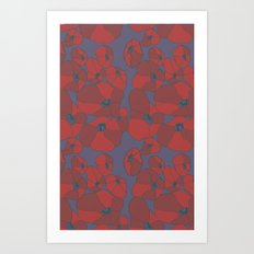 Mauve Poppies Art Print