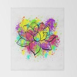 Zen Lotus Throw Blanket