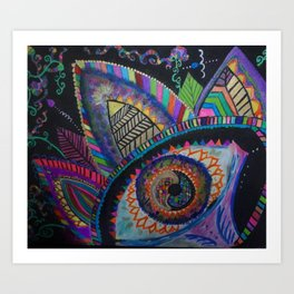 I am the flower, the flower is me Art Print