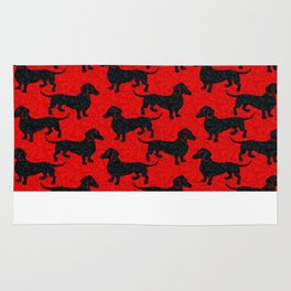Christmas Dachshunds Rug