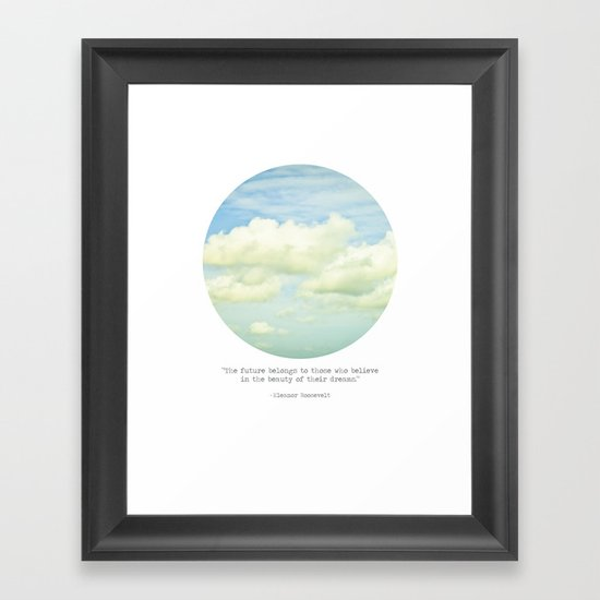 The beauty of the dreams Framed Art Print