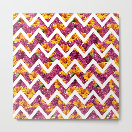 Chevron Summer Metal Print
