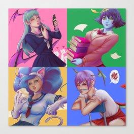 Darkstalkers - Coolest girls in school Canvas Print