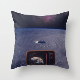Space TV Station Throw Pillow