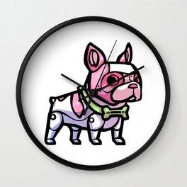 Pink Gorilla X Enfu Bulldog Mech  Wall Clock