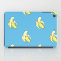 minions iPad Cases featuring Banana print by Raccoon Illustrations